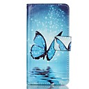 Buy Blue Butterfly Pattern Magnetic Flip Wallet PU Leather Phone Case Huawei P9