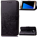 Buy Samsung Galaxy Note5 case Floral Clover Embossed PU Leather Magnetic Flip wallet Card Holder Wallet Purse Cover