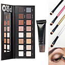 lorac pro cosméticos conjunto de maquiagem (16 cores de sombra luminosa paleta de sombra do olho com base de espelho + 1 + 4 cartilha