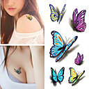 Buy Sexy Waist Shoulder Water Transfer Tattoo Decal Waterproof Temporary Sticker Colorful Butterfly Fake