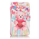 Buy 3D Painted Pink Bear Pattern PU Material Phone Case Galaxy J3/J310/J5/J510/G360/G530