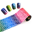 Buy 2016 New Glitter Laser Gradient Colorful Nail Art Transfer Foil Sticker Paper DIY Beauty Decorations