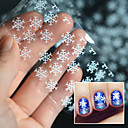 Buy 1 Roll 4x100cm Foil Nail Art Sticker Transparent Silver Christmas snowflake Design Transfer Foils Decal Nails