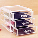 Buy Acrylic Transparent Three Layer Cosmetics Storage Drawer Quadrate Cosmetic Organizer