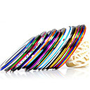 Buy 10pcs/set Mixed Colors Rolls Striping Tape Line Metallic Yarn Nail Art Decoration Sticker