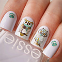 Buy Nail Art Water Decals Transfer Stickers Cute Animal Owl Pattern Sticker BOP124