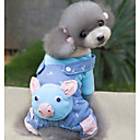 Buy Dog Clothes/Jumpsuit Blue / Pink Clothes Winter Spring/Fall Cartoon Cute