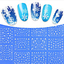 Buy 1Designs Mixed White Snow Flower Christmas Beauty Tips Nail Stickers