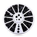 Buy Black 3d Nail Rhinestone Pearls Tips Sticker Decoration Wheel