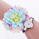 Buy Women's Fashion Watch Bracelet Casual Quartz / PU Band Flower Cool Black White Blue Red Brand