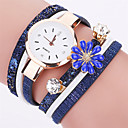 Buy Women's Fashion Watch Bracelet Casual Quartz / PU Band Flower Cool Black White Blue Red Grey Brand