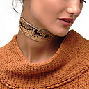 Buy Women's Choker Necklaces Statement Jewelry Leather Geometric Snake Fashion Black Brown JewelryParty Halloween