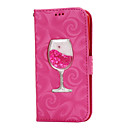 Buy Samsung Galaxy A3(2016) A5(2015) Case Cover Flowing Quicksand Liquid Wineglass Pattern PU Leather A310 A510