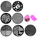 Buy 1DIY Polish Beauty Nail Art Image Stamp Stamping Plates 3D Templates Stencils Manicure Tools (OM31-OM40)