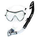 Buy Diving Masks Packages Snorkels Swim Mask Goggle Snorkel Set Dry Top / Snorkeling Swimming PVC Glass siliconeRed Purple