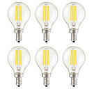 Buy 4W E14 E26/E27 E12 LED Filament Bulbs G45 4 COB 400 lm Warm White Dimmable Decorative AC 220-240Dimmable/ 110-130 VDimmable-