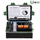 Buy U'king ZQ-X906S#1-EU T6 1000LM LED 5Modes Dimming Flashlight Torch Kit Support DC Charging Battery Charger