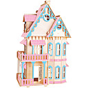 Buy Jigsaw Puzzles DIY KIT Building Blocks 3D Educational Color Gothic Big House Wooden Toys Famous Buildings