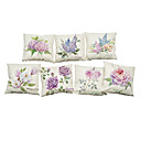 Buy Set 7 variety flowers pattern Linen Pillowcase Sofa Home Decor Cushion Cover