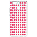 Buy Huawei P9 Pattern Case Back Cover Pink Peach Heart Soft TPU / Lite P8