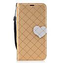 Buy Huawei P8 Lite (2017) P10 Diamond Pattern Heart Magnetic Buckle PU Leather Material Wallet Function Phone Case Y5 II Y6 Mate 9