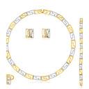 Buy Stud Earrings Bracelet Necklace/Ring Euramerican Fashion Rhinestone Alloy Heart 1 Pair Necklaces Rings Bracelets & Bangles