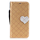 Buy Huawei P8 Lite (2017) P10 Case Cover New Grid Pattern Love Buckle PU Material Hit Color Phone Mate 9 P9 Honor 6X