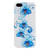 flor azul estuche blando patrón para el iphone 5/5s
