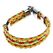 Z&X®  Three-color Cross Weave Leather Galloon Bracelet Christmas Gifts