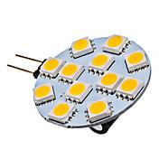 G4 1.5W 12x5050SMD 70LM 2700K 따뜻한 화이트 조명 LED 스팟 전구 (12V)