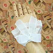 로리타 액세서리 클래식/전통적 롤리타 로리타 프린세스 화이트 로리타 액세서리 소매 리본매듭 레이스 솔리드 에 대한 레이스 오간자