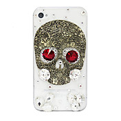 Antique Copper Zircon Skull Pattern Hard Case for iPhone 4/4S
