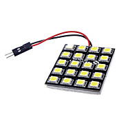 T10 BA9S 꽃줄 G4 10W 20x5050SMD 700-800LM 6000-6500K는 백색 핸들 / 독서 용 램프 (DC 12V)를 LED