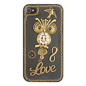Vintage Love Owl Back Case for iPhone 4/4S