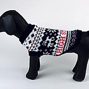 Perros Suéteres Azul Ropa para Perro Invierno Navidad