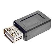 소형 USB 여성 변환기 접합기 검정에 USB 여성