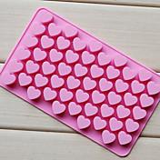 사랑 심장 모양 초콜릿 트레이, 실리콘 (55)의 구멍 (색상 불규칙적) cm-87