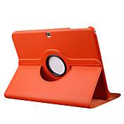 용 삼성 갤럭시 케이스 스탠드 / 플립 / 360°회전 케이스 풀 바디 케이스 단색 인조 가죽 Samsung Tab 3 10.1