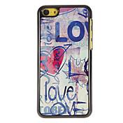 Garabato del Patrón Amor PC caso duro con 3 Almuerzos Protectores HD de pantalla para iPhone 5C