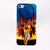 Patrón pendiente de la pluma Porlycarbonate casos duros para el iPhone 5/5S