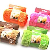 Perro Toalla Limpieza Mascotas Colchonetas y Cojines Suave Naranja Café Verde Rosa