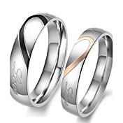 여성용 커플 링 약혼 반지 러브 신부 스테인레스 Heart Shape 보석류 제품 결혼식 파티 생일 약혼 일상