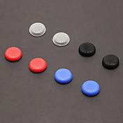 A Set 8 piezas Grips del pulgar del palillo para PS4 (2 PCS en blanco, 2 piezas de Negro, 2 piezas en rojo, 2 piezas en azul)