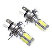 H4 11W 화이트 라이트는 헤드 라이트 전구에 LED (10-24V, 2PCS)
