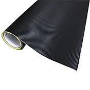 자동차 - 검정을위한 Merdia 장식 PVC 3D 탄소 섬유 필름 포장 스티커 (127 X 50cm)