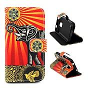 용 삼성 갤럭시 케이스 카드 홀더 / 스탠드 / 플립 / 패턴 케이스 풀 바디 케이스 코끼리 인조 가죽 Samsung S5 Mini