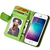 용 아이폰6케이스 아이폰6플러스 케이스 케이스 커버 지갑 스탠드 플립 풀 바디 케이스 한 색상 하드 인조 가죽 용 iPhone 6s Plus iPhone 6 Plus iPhone 6s 아이폰 6