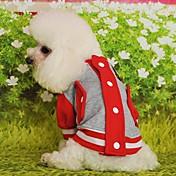 고양이 개 맨투맨 스웻티셔츠 레드 옐로우 블루 블랙 핑크 강아지 의류 겨울 모든계절/가을 컬러 블럭 캐쥬얼/데일리 스포츠