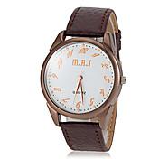 남성 캐주얼 다이얼 PU 밴드 석영 손목 시계 (모듬 색상)