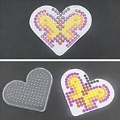 1pcs plantilla tablero claro corazón amoroso de Hama Beads 5mm cuentas de fusibles